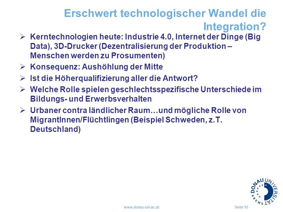 Erschwert technologischer Wandel die Integration