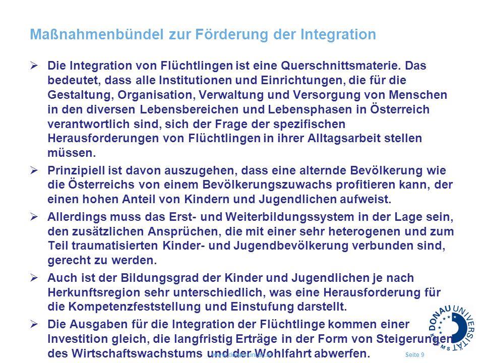 Maßnahmenbündel zur Förderung der Integration