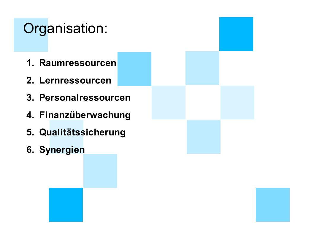 Organisation: Raumressourcen Lernressourcen Personalressourcen