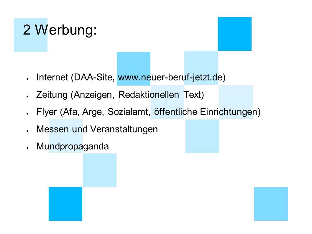 2 Werbung: Internet (DAA-Site, www.neuer-beruf-jetzt.de)