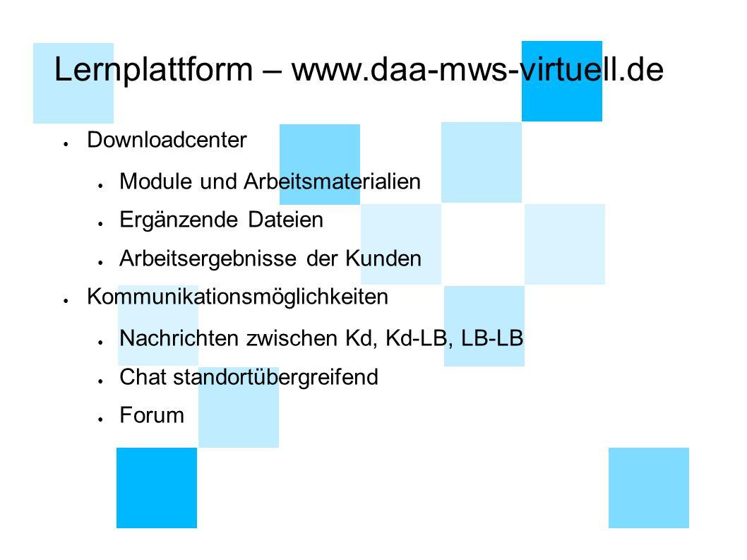 Lernplattform – www.daa-mws-virtuell.de