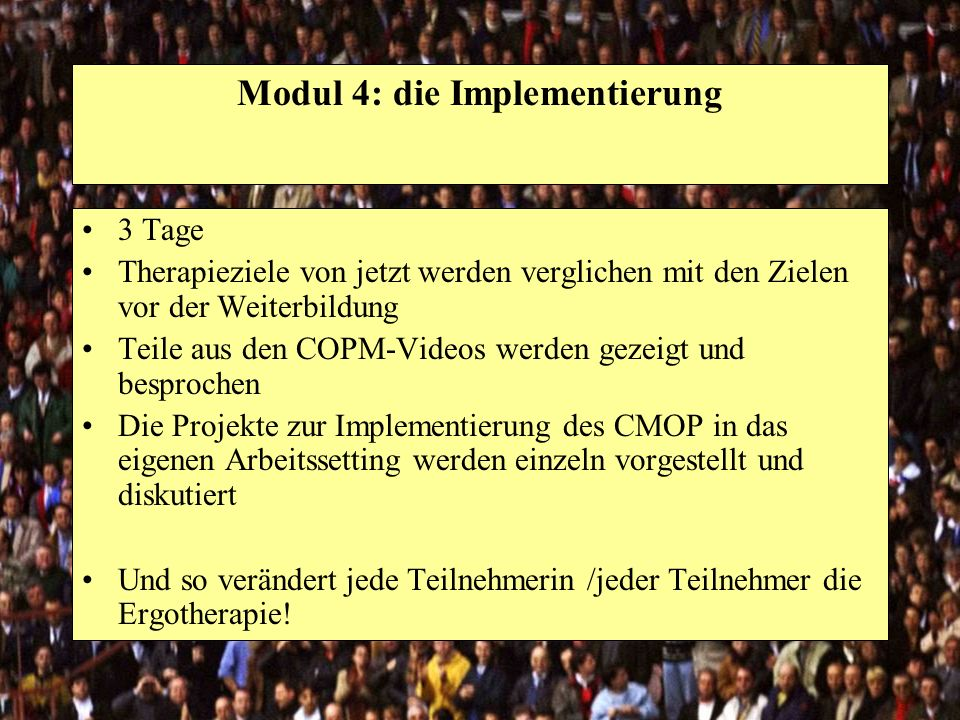Modul 4: die Implementierung
