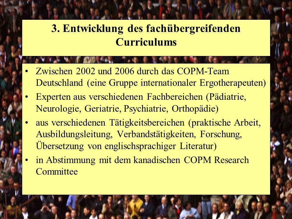 3. Entwicklung des fachübergreifenden Curriculums