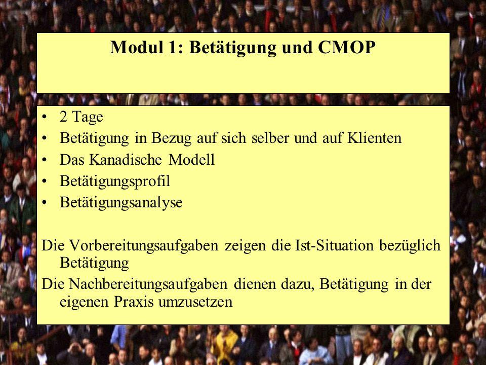 Modul 1: Betätigung und CMOP