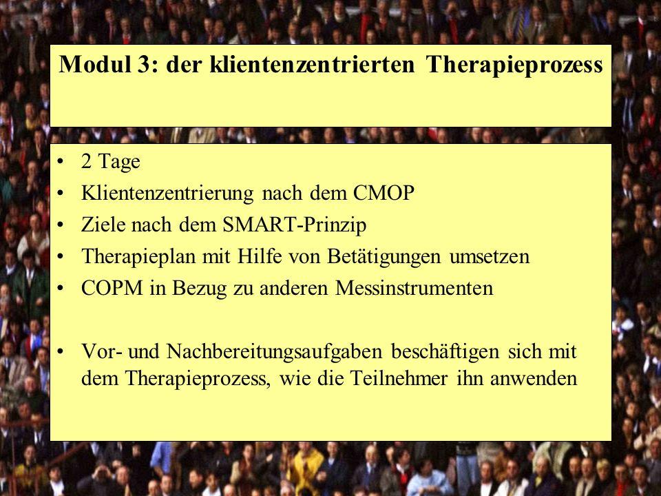 Modul 3: der klientenzentrierten Therapieprozess