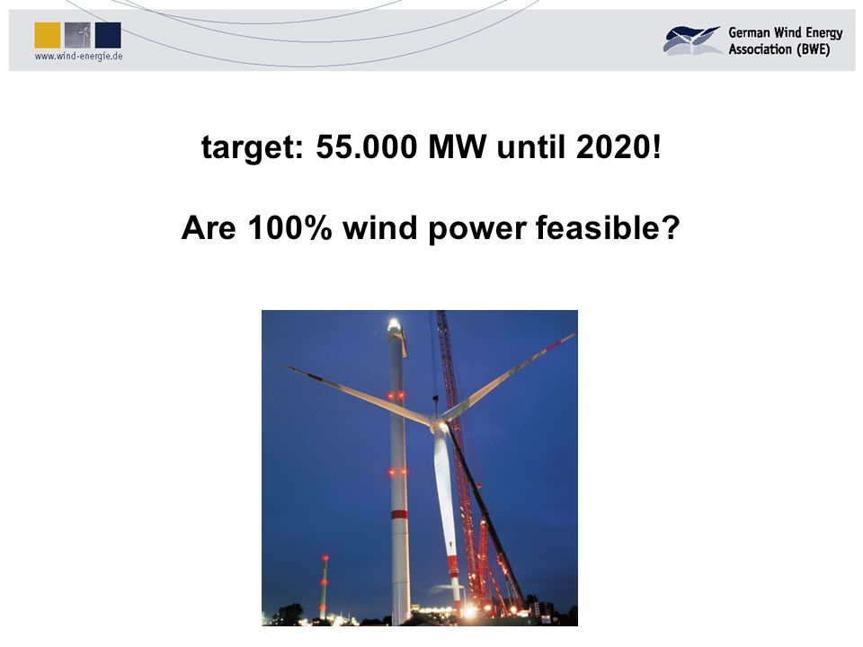 Are 100% wind power feasible
