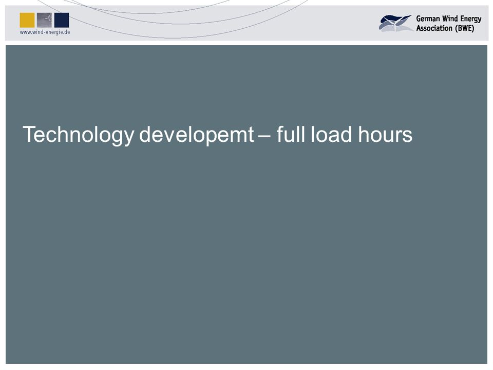 Technology developemt – full load hours