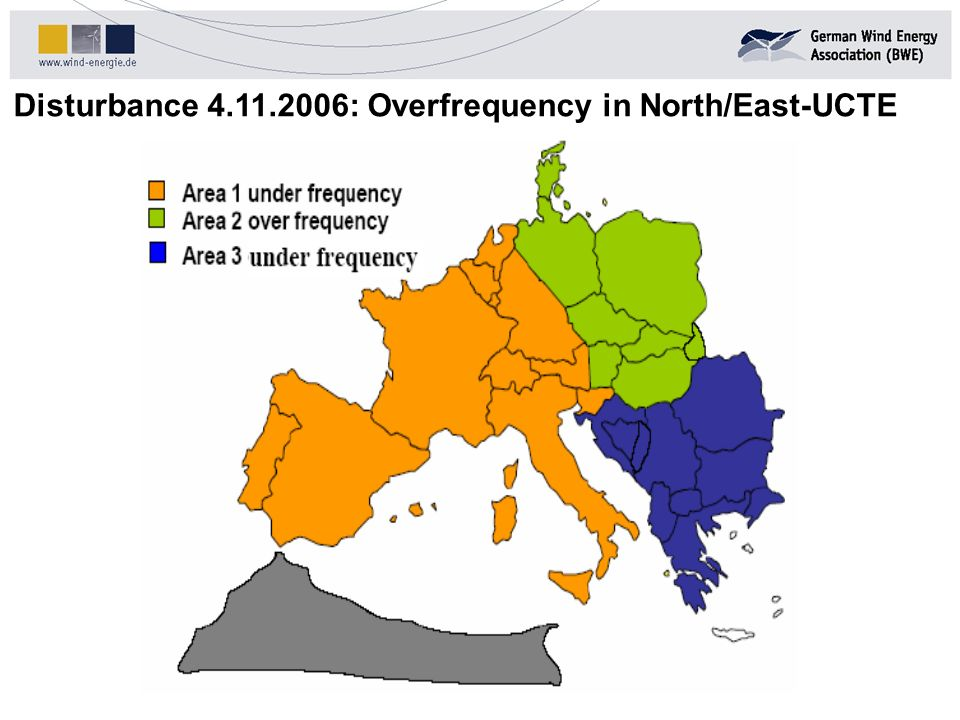 Disturbance 4.11.2006: Overfrequency in North/East-UCTE