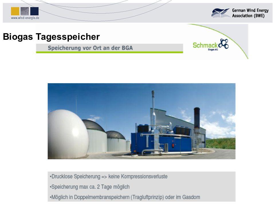 Biogas Tagesspeicher