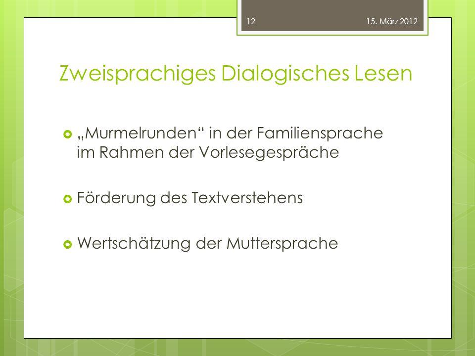 Zweisprachiges Dialogisches Lesen