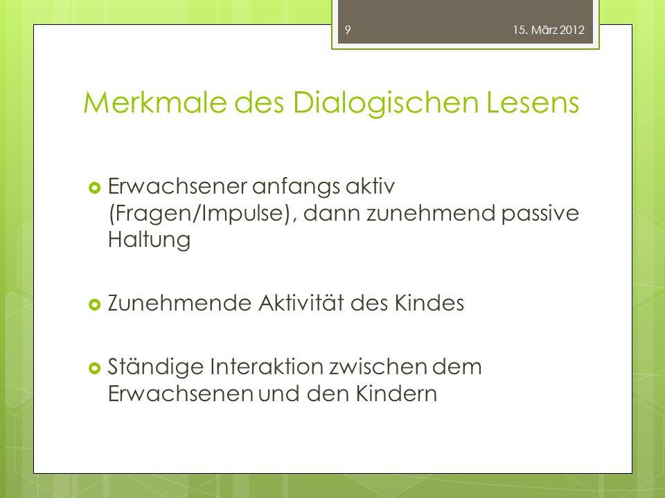 Merkmale des Dialogischen Lesens