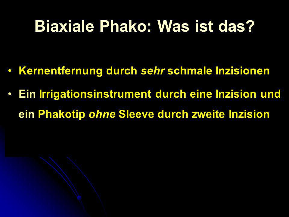 Biaxiale Phako: Was ist das
