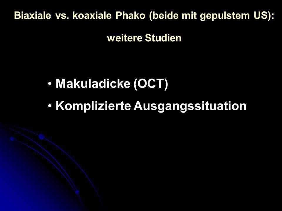Biaxiale vs. koaxiale Phako (beide mit gepulstem US):