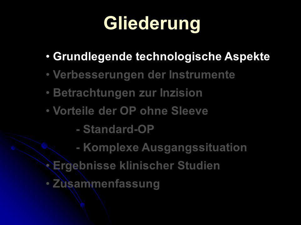 Gliederung Grundlegende technologische Aspekte