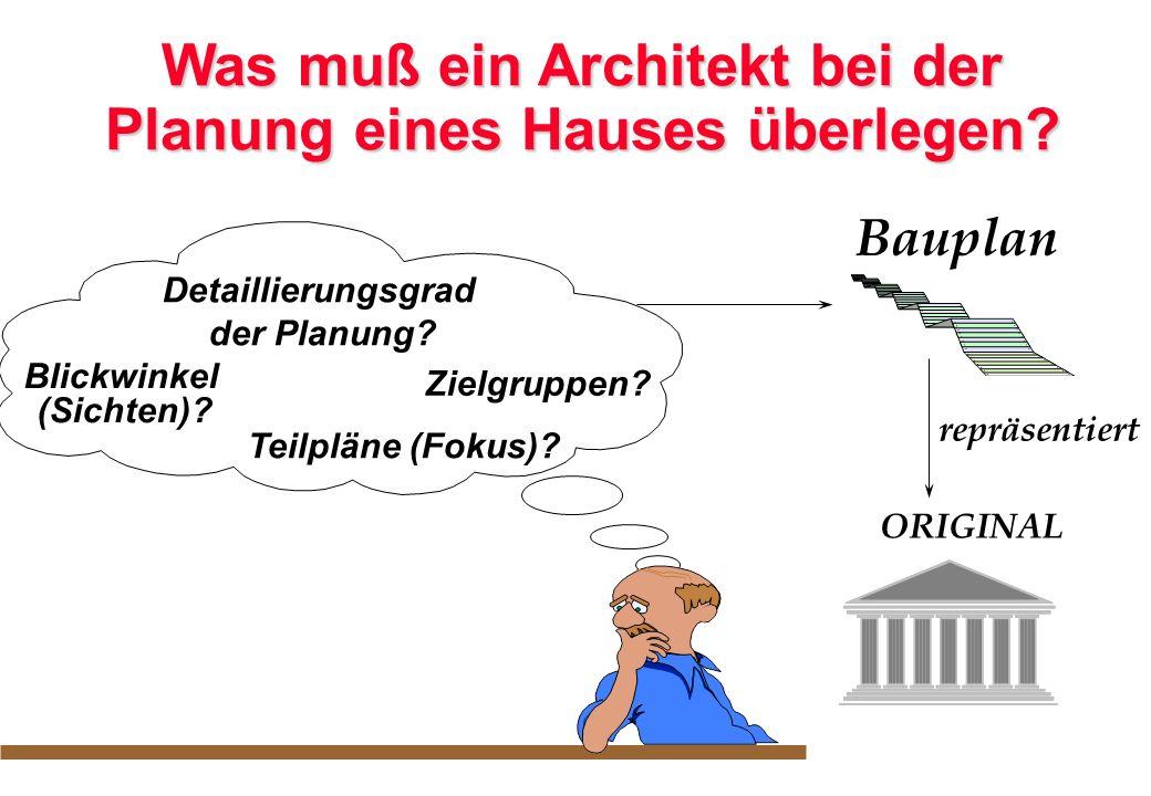 Was muß ein Architekt bei der Planung eines Hauses überlegen