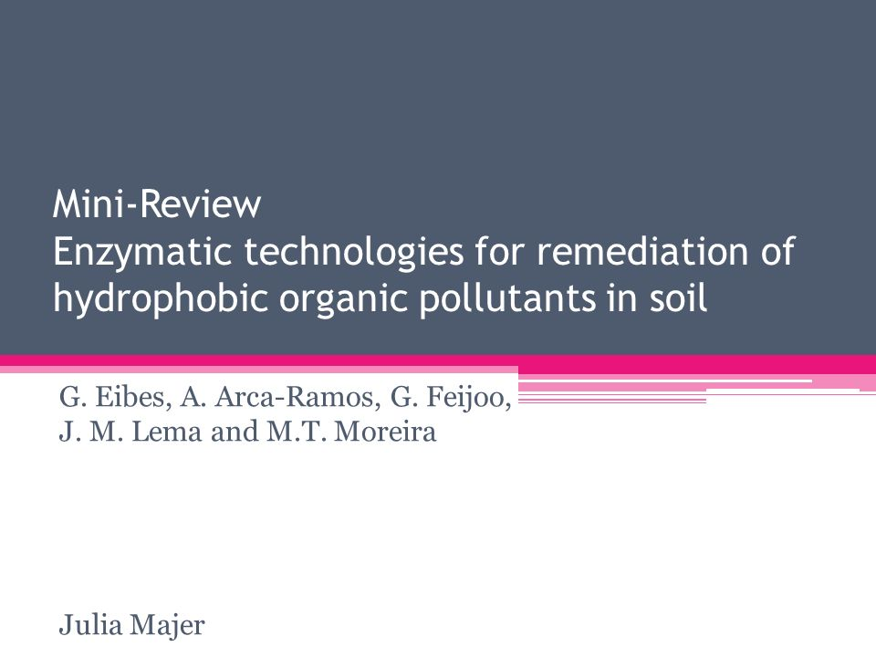 Mini-Review Enzymatic technologies for remediation of hydrophobic organic pollutants in soil