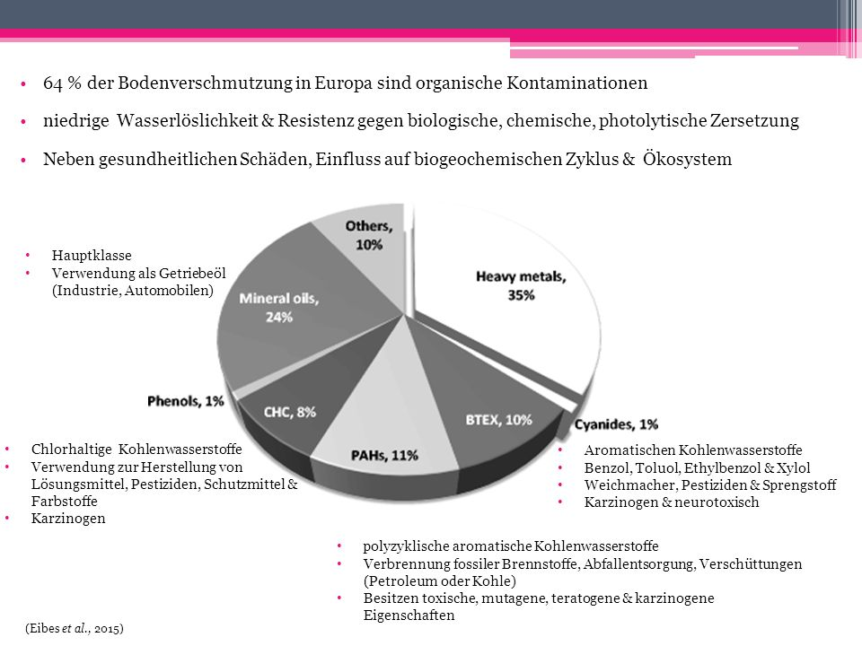 64 % der Bodenverschmutzung in Europa sind organische Kontaminationen