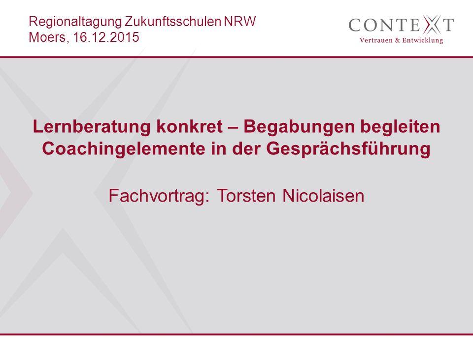 Regionaltagung Zukunftsschulen NRW