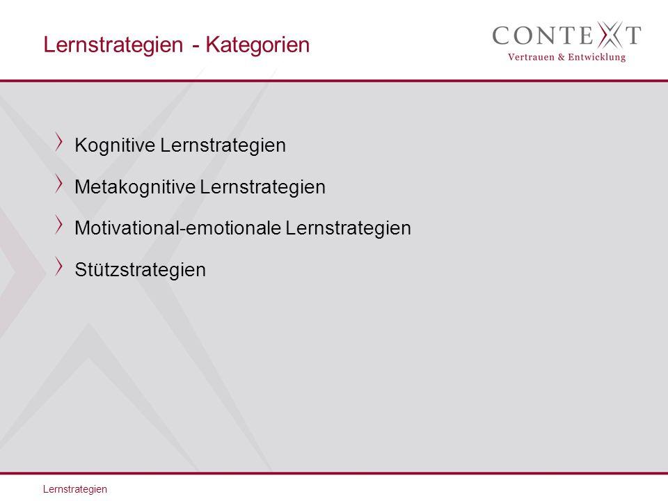 Lernstrategien - Kategorien