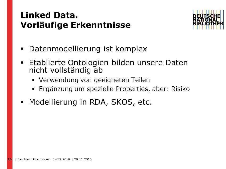 Linked Data. Vorläufige Erkenntnisse