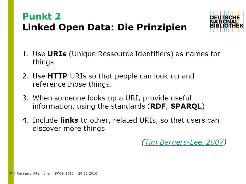 Punkt 2 Linked Open Data: Die Prinzipien