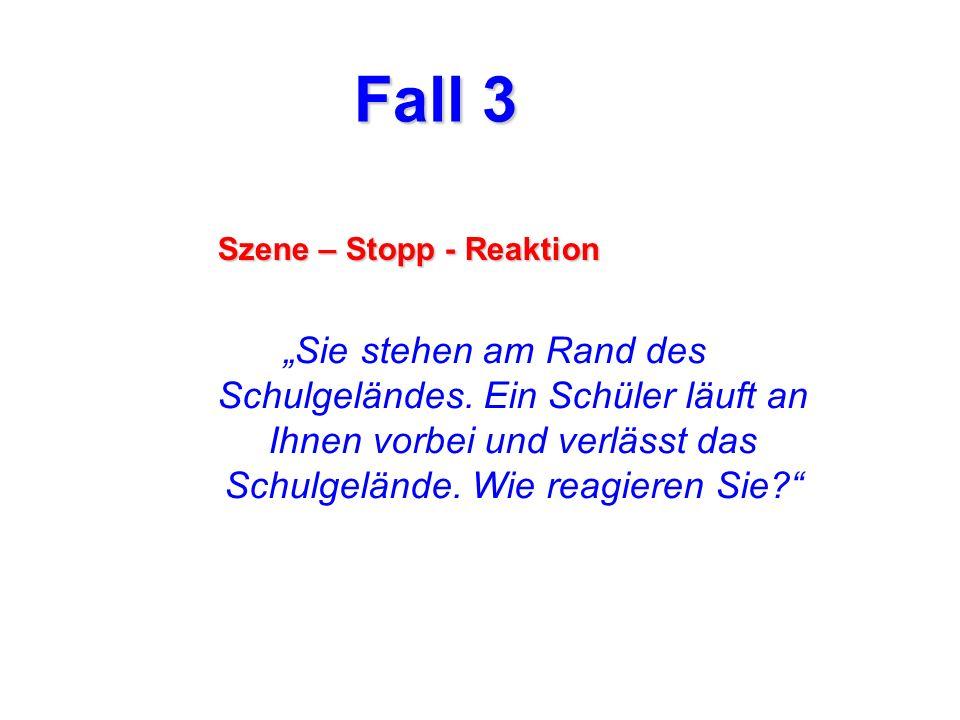 Fall 3 Szene – Stopp - Reaktion.