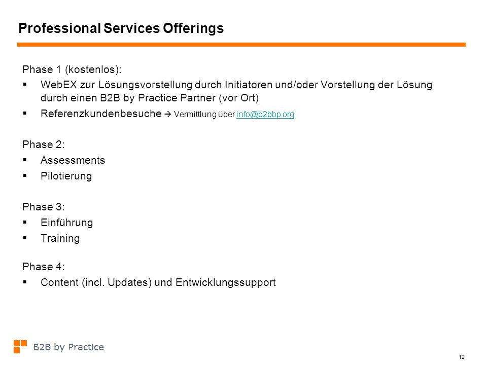 Professional Services Offerings