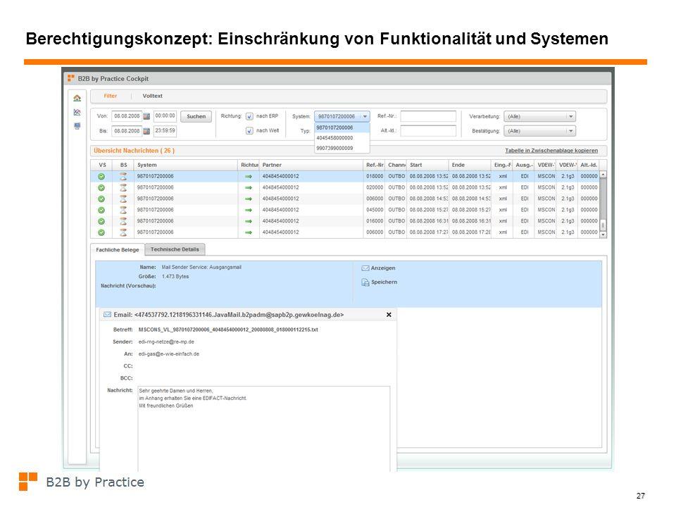 Berechtigungskonzept: Einschränkung von Funktionalität und Systemen