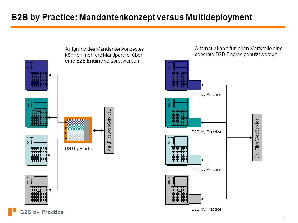 B2B by Practice: Mandantenkonzept versus Multideployment