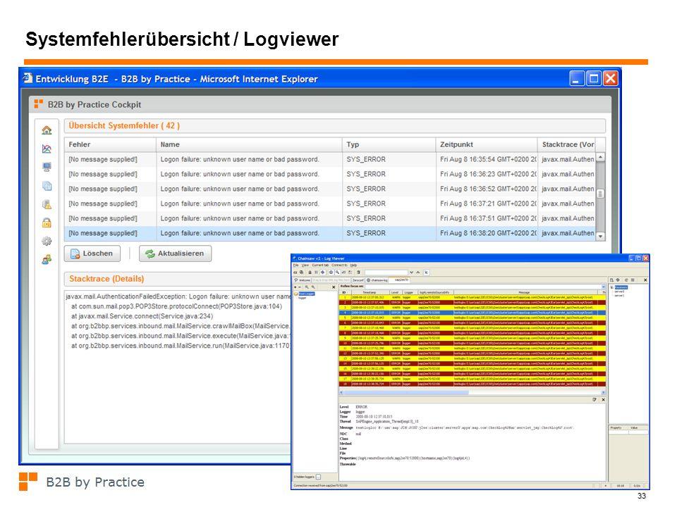 Systemfehlerübersicht / Logviewer