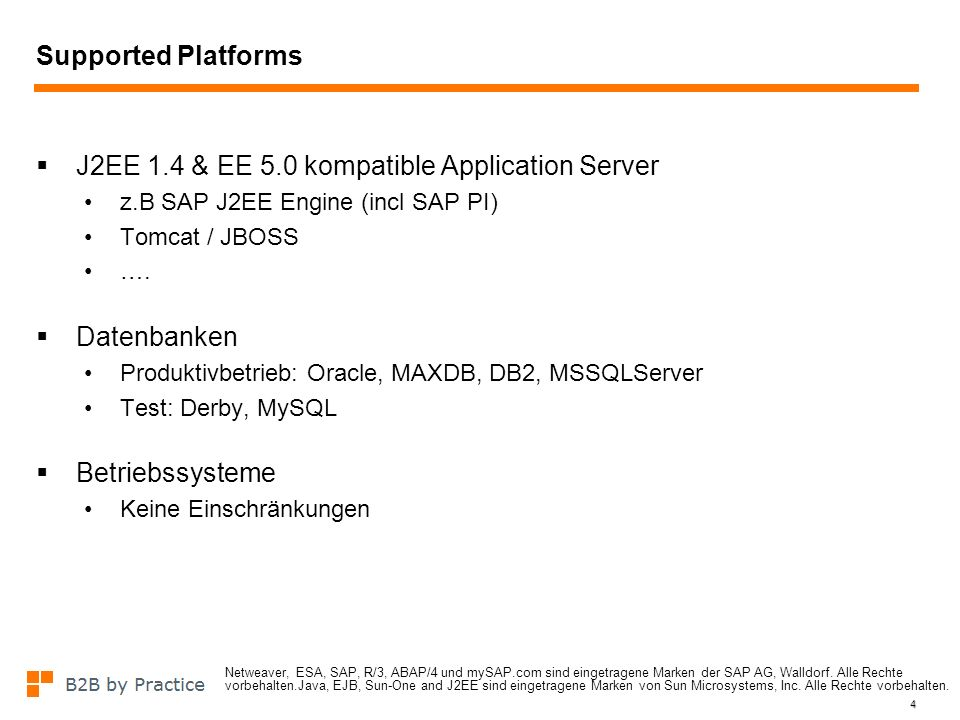 J2EE 1.4 & EE 5.0 kompatible Application Server