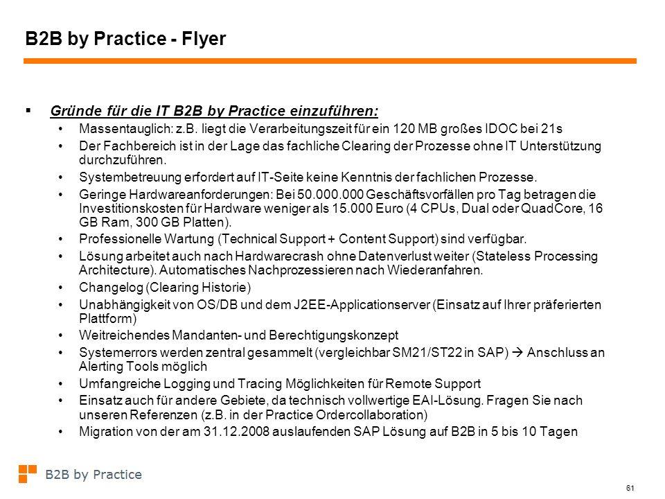B2B by Practice - Flyer Gründe für die IT B2B by Practice einzuführen: