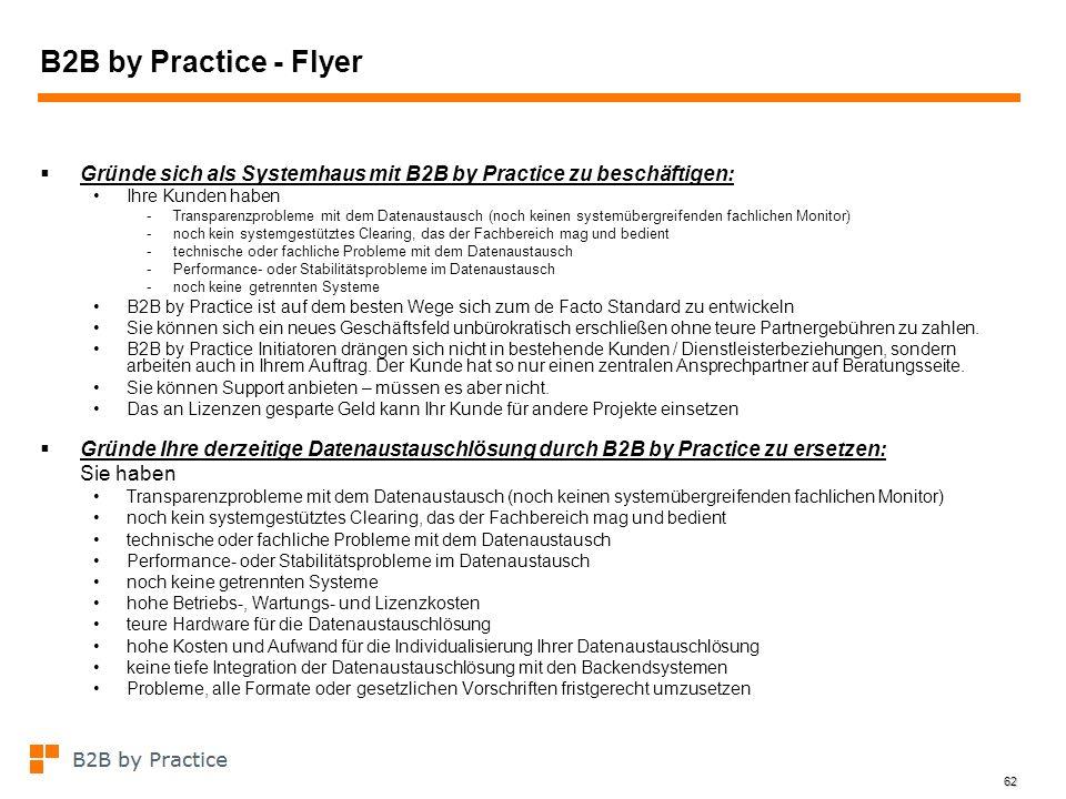 B2B by Practice - Flyer Gründe sich als Systemhaus mit B2B by Practice zu beschäftigen: Ihre Kunden haben.