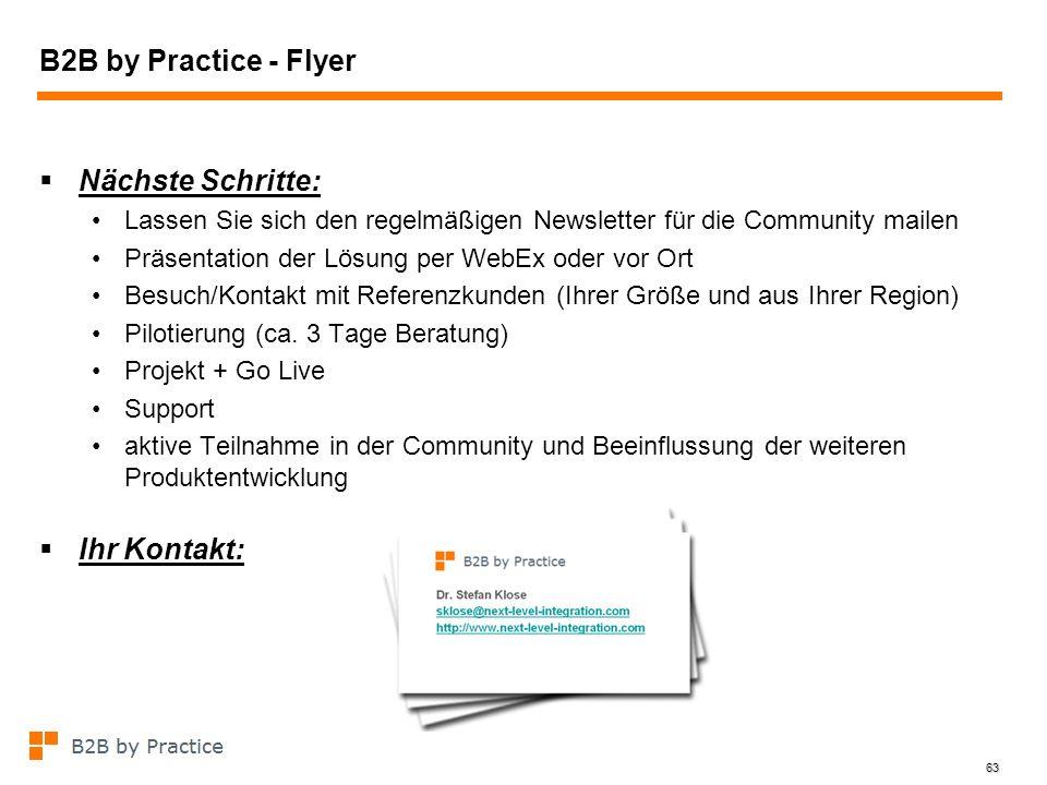 B2B by Practice - Flyer Nächste Schritte: Ihr Kontakt: