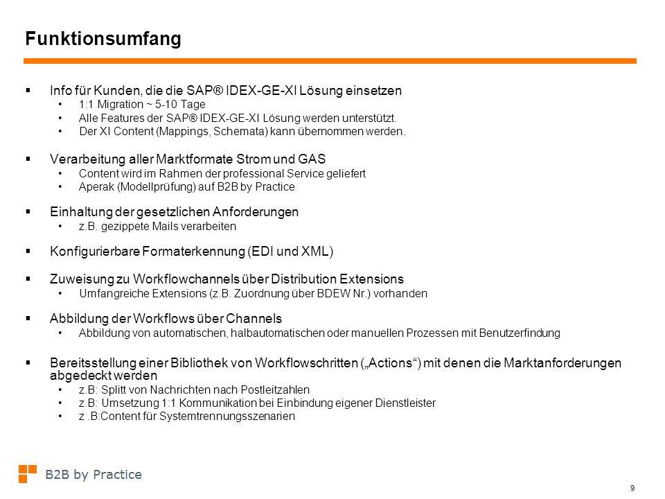 Funktionsumfang Info für Kunden, die die SAP® IDEX-GE-XI Lösung einsetzen. 1:1 Migration ~ 5-10 Tage.