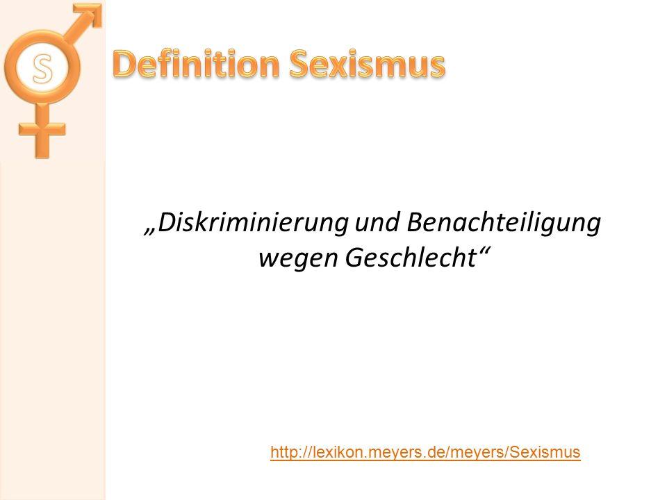 """""""Diskriminierung und Benachteiligung wegen Geschlecht"""
