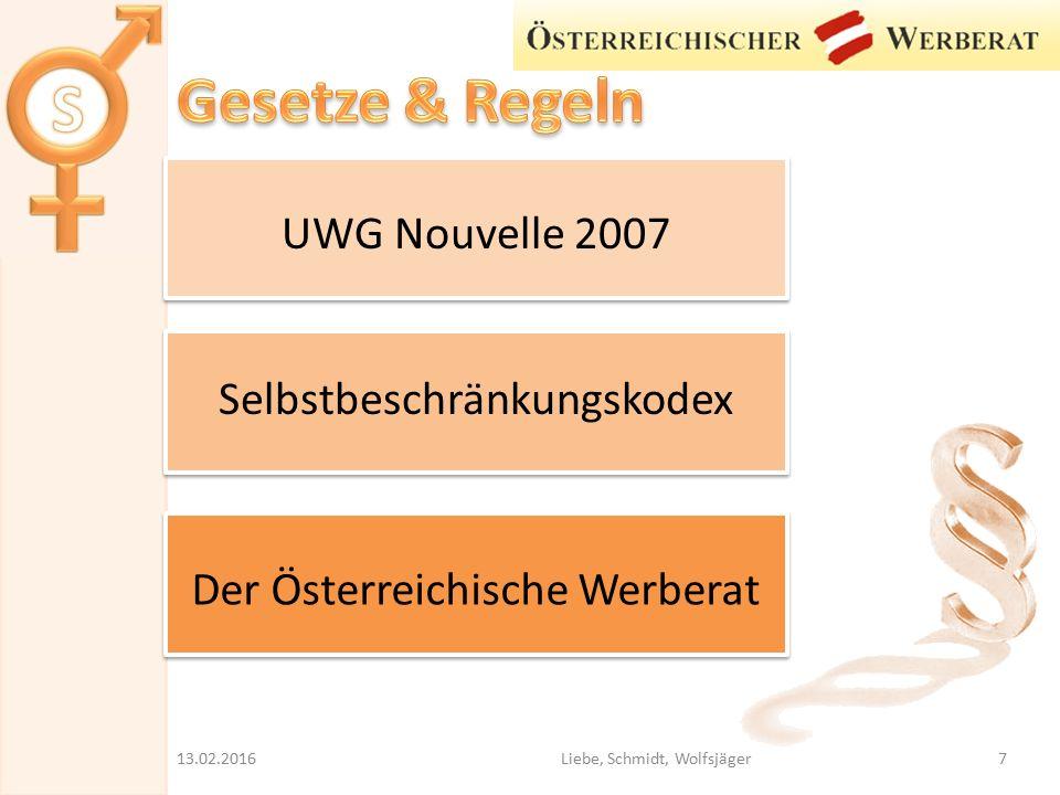 Gesetze & Regeln UWG Nouvelle 2007 Selbstbeschränkungskodex