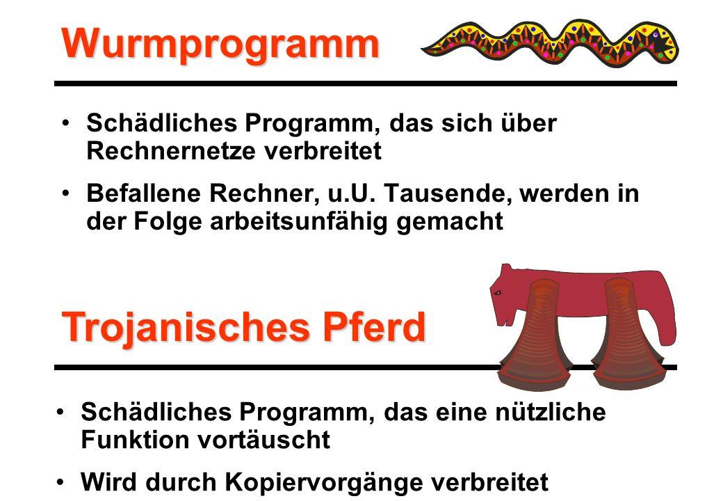 Wurmprogramm Trojanisches Pferd