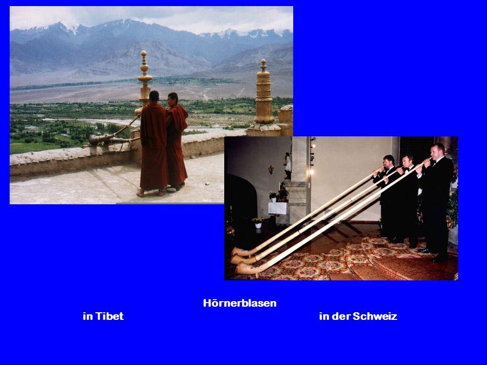 Hörnerblasen in Tibet in der Schweiz