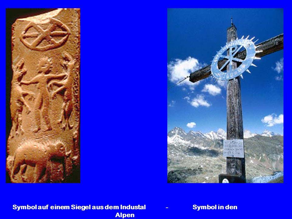 Symbol auf einem Siegel aus dem Industal - Symbol in den Alpen