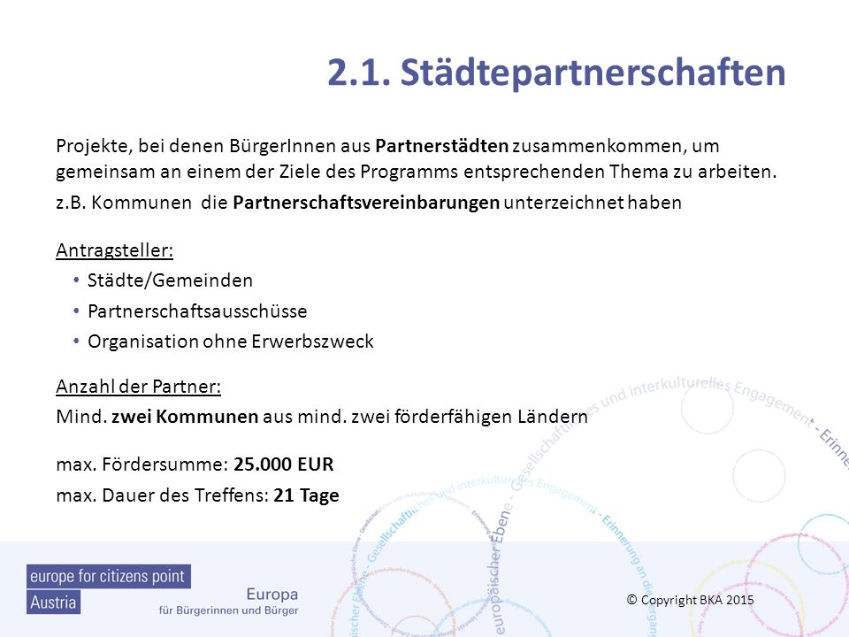 2.1. Städtepartnerschaften