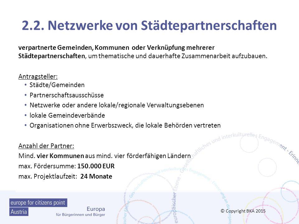 2.2. Netzwerke von Städtepartnerschaften