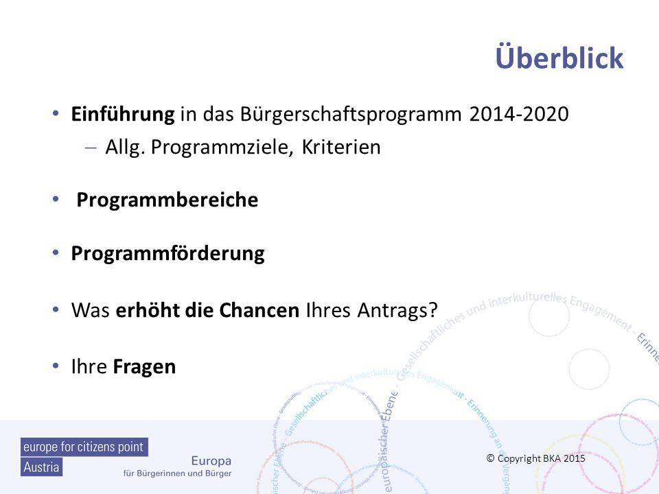 Überblick Einführung in das Bürgerschaftsprogramm 2014-2020