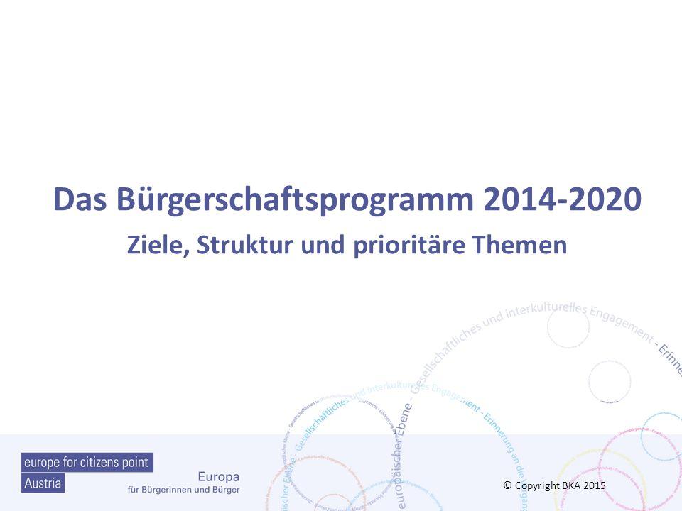 Das Bürgerschaftsprogramm 2014-2020