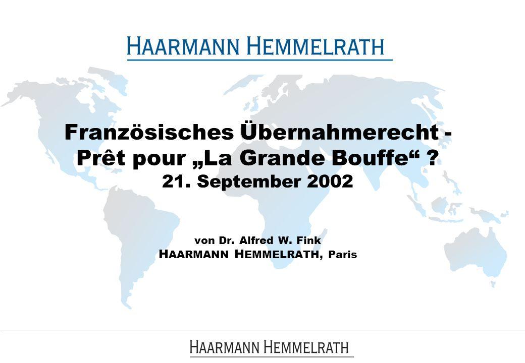"""Französisches Übernahmerecht - Prêt pour """"La Grande Bouffe . 21"""