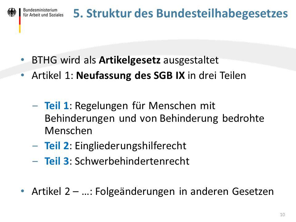 5. Struktur des Bundesteilhabegesetzes