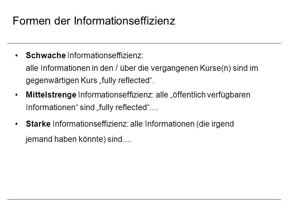 Formen der Informationseffizienz