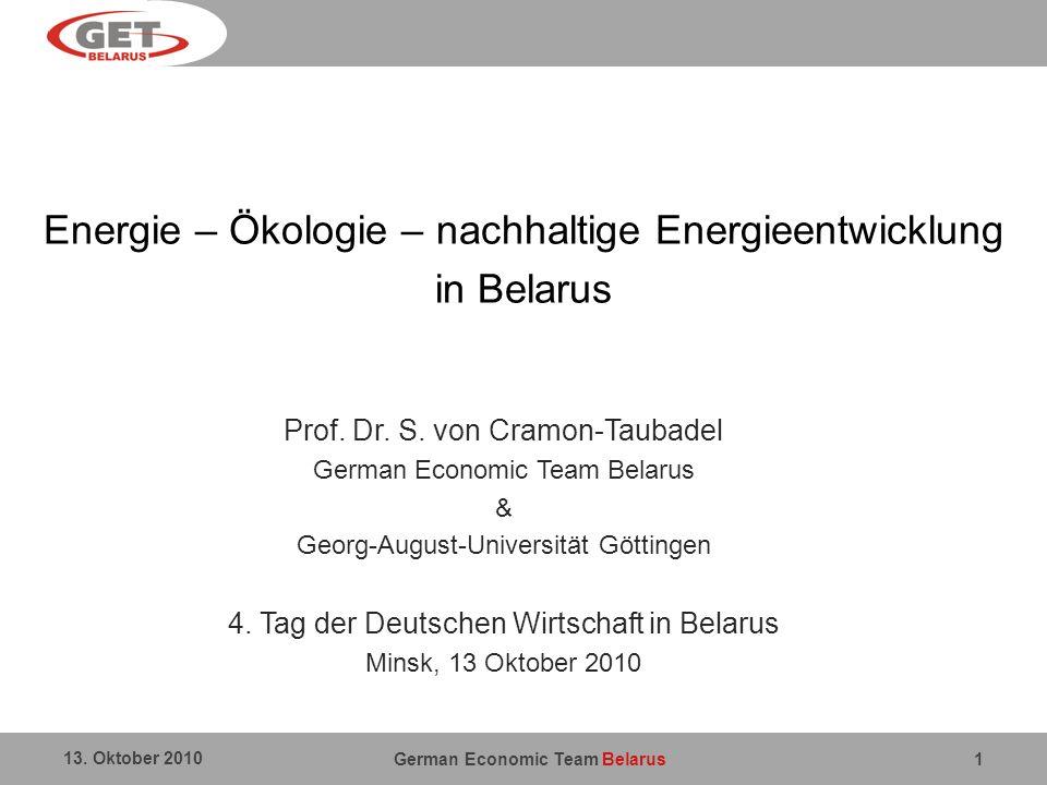 Energie – Ökologie – nachhaltige Energieentwicklung in Belarus