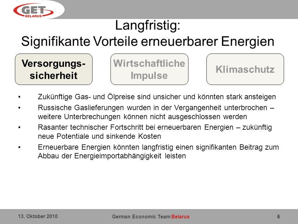 Langfristig: Signifikante Vorteile erneuerbarer Energien