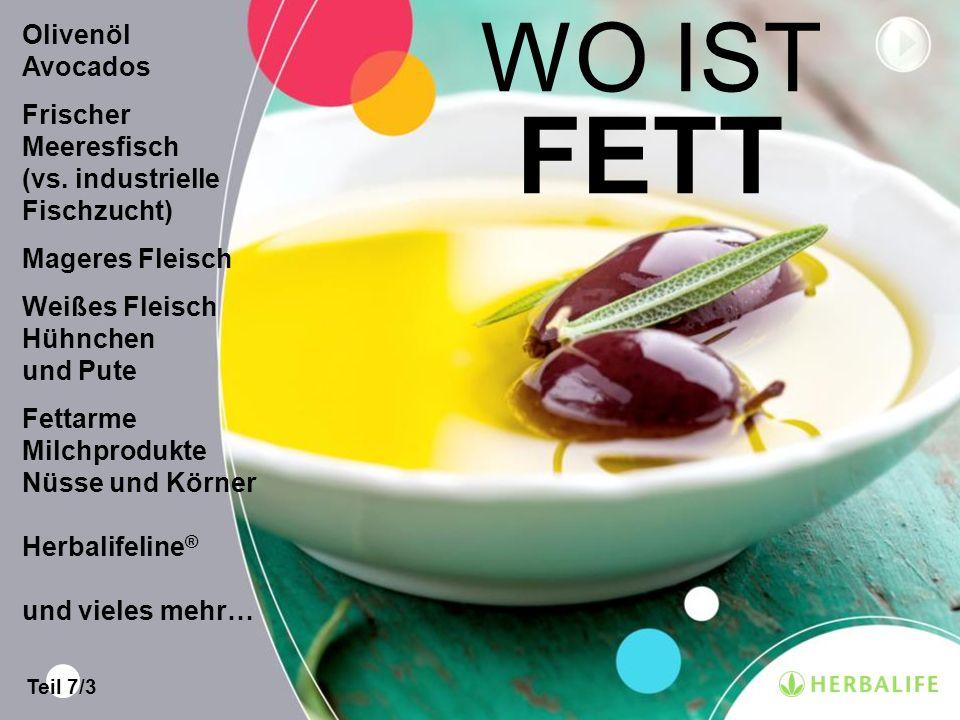 WO IST FETT Olivenöl Avocados Frischer Meeresfisch